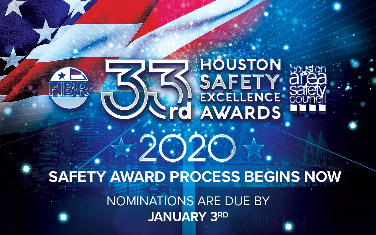 HBR 33rd Houston Safety Excellence awards for 2020