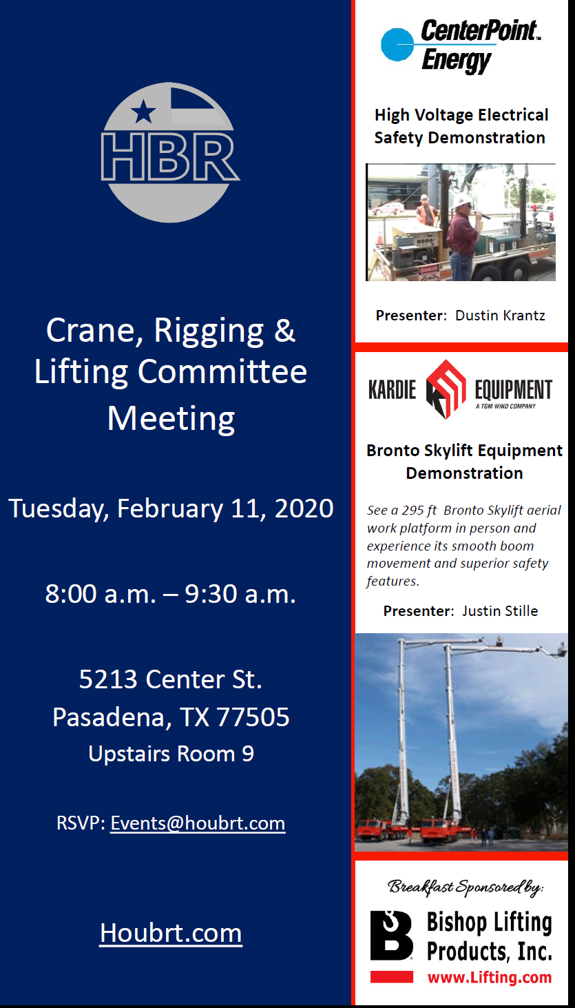 Crane meeting flyer
